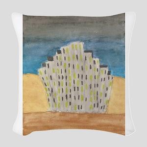 Fantasy city Woven Throw Pillow