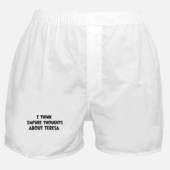 Teresa (impure thoughts} Boxer Shorts