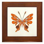 'Butterfly Tattoos Framed Tile