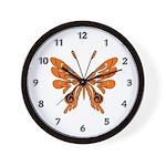 'Butterfly Tattoos Wall Clock