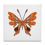 'Butterfly Tattoos Tile Coaster