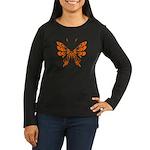 'Butterfly Tattoo Women's Long Sleeve Dark T-Shirt