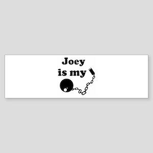 Joey (ball and chain) Bumper Sticker