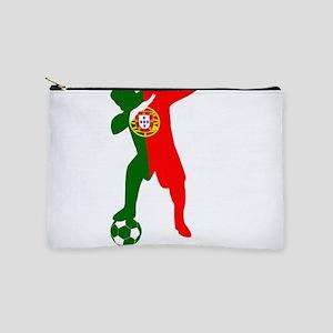 Portuguese soccer player dabbing Makeup Bag
