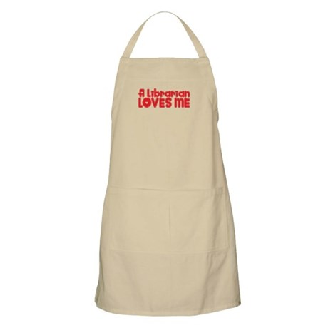 A Librarian Loves Me BBQ Apron
