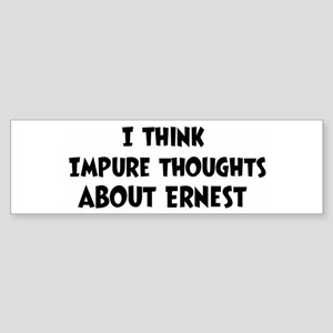 Ernest (ball and chain) Bumper Sticker