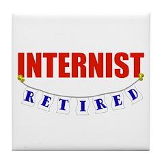 Retired Internist Tile Coaster