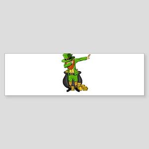 Leprechaun Dabbing Dance Designs Bumper Sticker