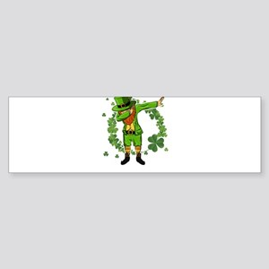 Leprechaun Dabbing St Patricks Day Bumper Sticker