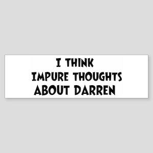 Darren (ball and chain) Bumper Sticker