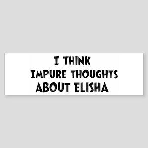 Elisha (ball and chain) Bumper Sticker