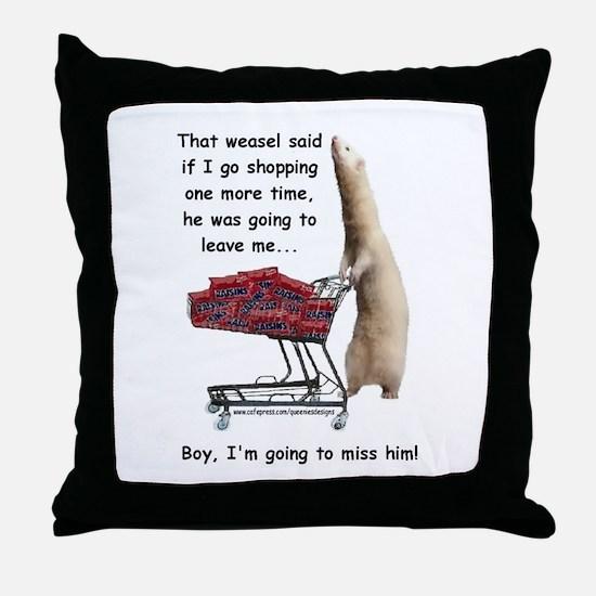 That Weasel Throw Pillow