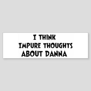 Danna (ball and chain) Bumper Sticker