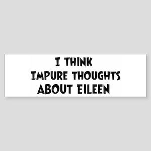 Eileen (ball and chain) Bumper Sticker