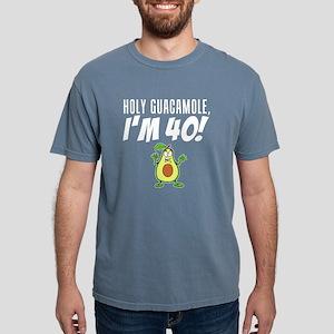 Holy Guacamole I'm 40 Cartoon Avocado T-Shirt
