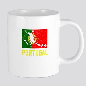 Portuguese flag soccer T-Shirt Mugs