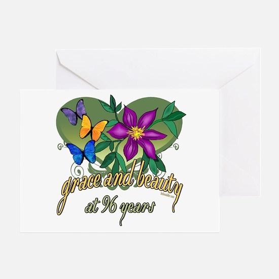 Beautiful 96th Greeting Card