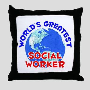 World's Greatest Socia.. (E) Throw Pillow