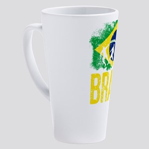 Brazilian soccer player flag of Br 17 oz Latte Mug