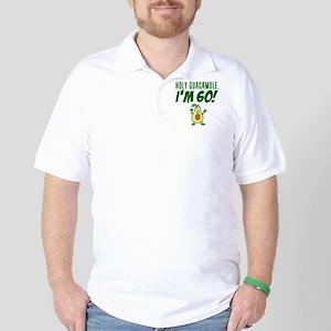 Holy Guacamole I'm 60 Cartoon Avocado Golf Shirt