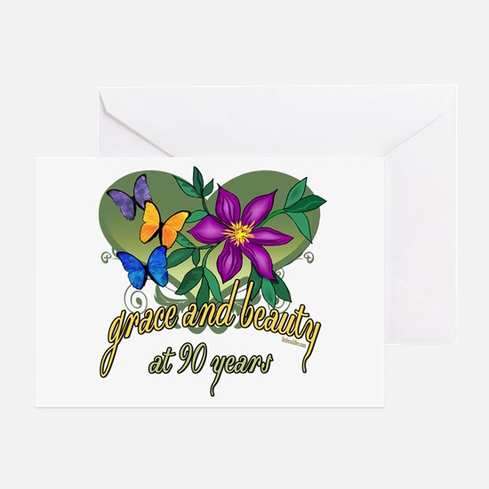 Beautiful 90th Greeting Card