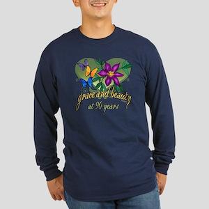 Beautiful 90th Long Sleeve Dark T-Shirt
