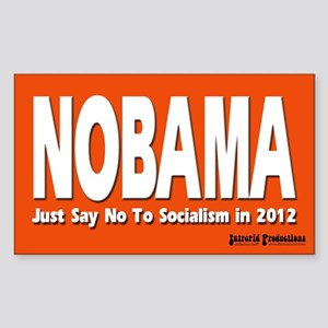 Anti-Obama Rectangle Sticker