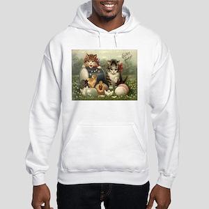 Vintage Easter Hooded Sweatshirt