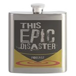 This Epic Disaster Podcast Logo Flask