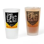 This Epic Disaster Podcast Logo Drinking Glass