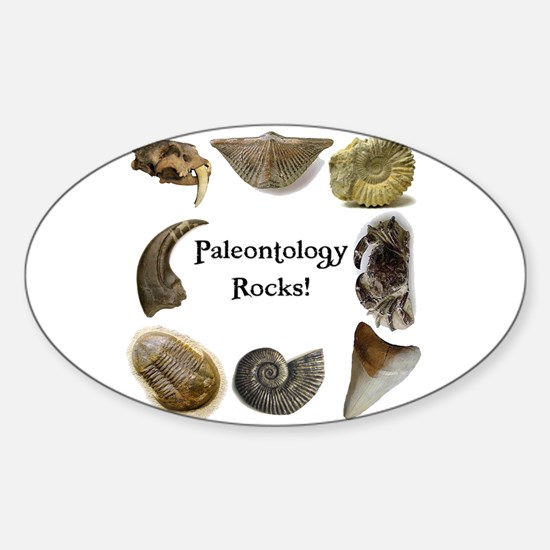 Paleontology 2 Oval Decal