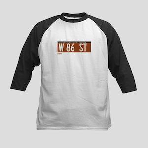 86th Street in NY Kids Baseball Jersey