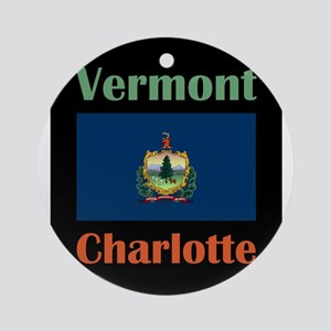 Charlotte Vermont Round Ornament