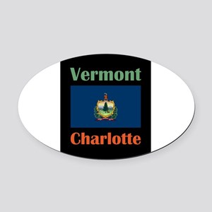 Charlotte Vermont Oval Car Magnet