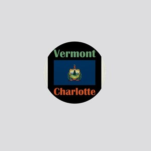 Charlotte Vermont Mini Button