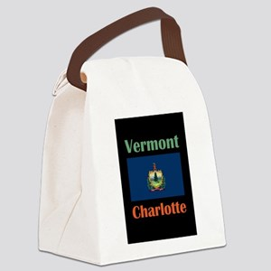 Charlotte Vermont Canvas Lunch Bag
