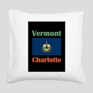 Charlotte Vermont Square Canvas Pillow