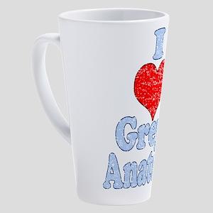 Vintage I heart Grey's Anatomy 17 oz Latte Mug
