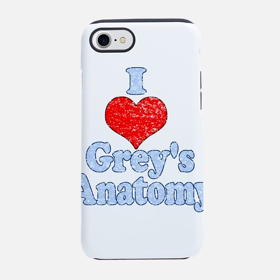 Vintage I heart Grey's Anatomy iPhone 8/7 Tough Ca