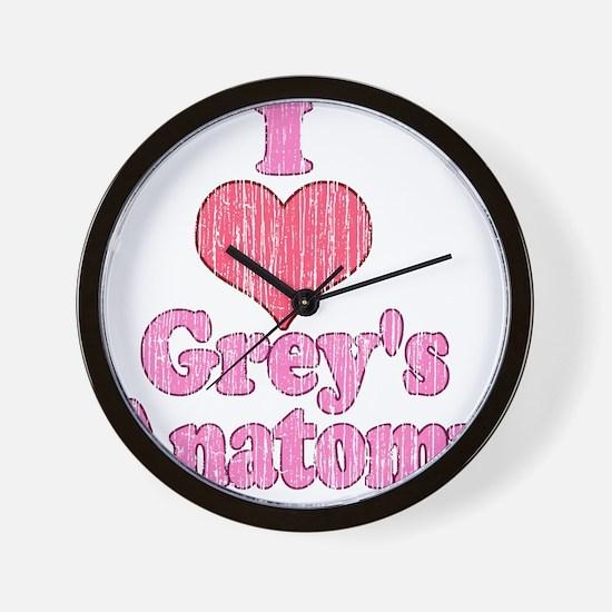 Vintage I heart Grey's Anatomy Wall Clock