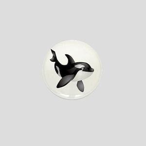 Friendly Orca Mini Button