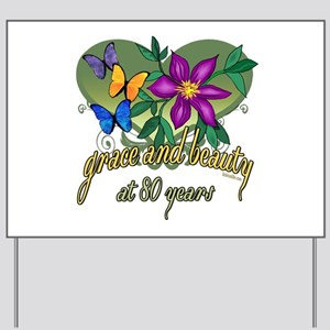 80th Birthday Grace Yard Sign