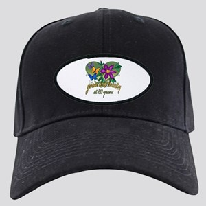 80th Birthday Grace Black Cap with Patch