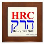 Jews For Hillary 2008 Framed Tile