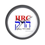 Jews For Hillary 2008 Wall Clock