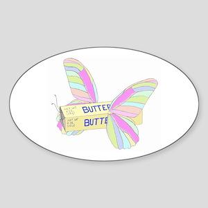 Butterfly Oval Sticker