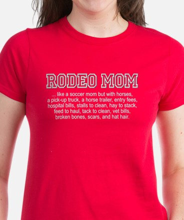 """Rodeo Mom"" Women's Dark T-Shirt"