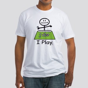 Mahjong Stick Figure Fitted T-Shirt