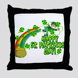 Happy St. Patrick's Day Classic Throw Pillow
