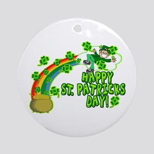 Happy St. Patrick's Day Classic Ornament (Round)